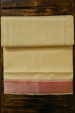 Off White Mangalagiri Cotton Saree