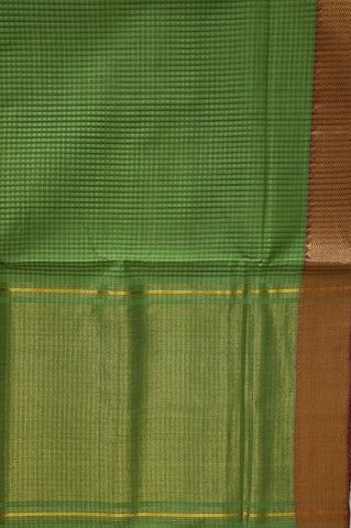 Missing Checks in Green Mangalagiri Cotton Saree