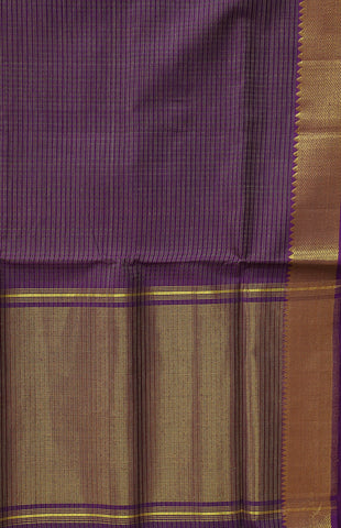 Double Shade Purple Handwoven Mangalagiri Cotton Saree