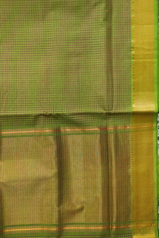 Light Green Mangalagiri Cotton Saree