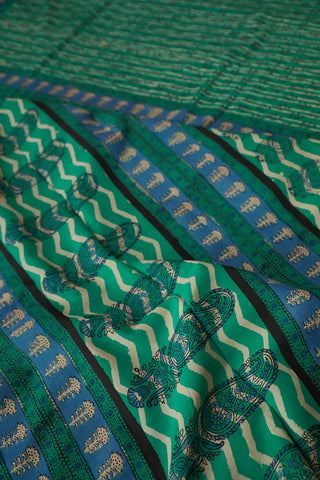 Dabu Print Mul Cotton Saree