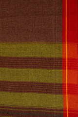 Maroon with Yellow Border Handwoven Cotton Saree
