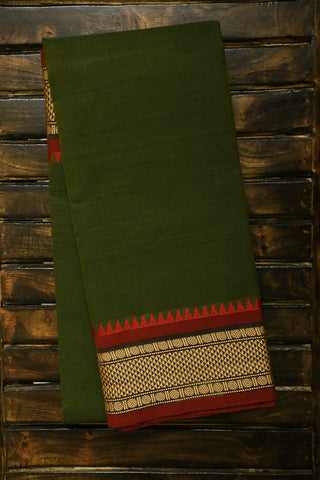 Double Shade Green Kanchi Cotton Saree