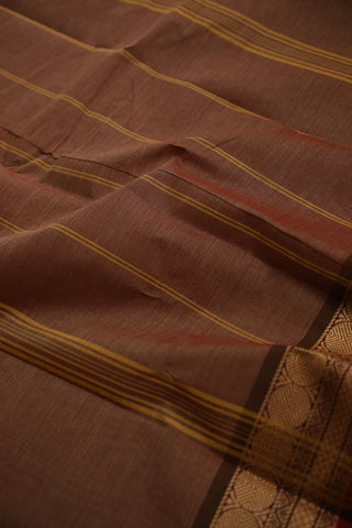 Double Shade Maroon Kanchi Cotton Saree