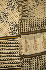 Beige with Black Bagru Block Printed Full Suit