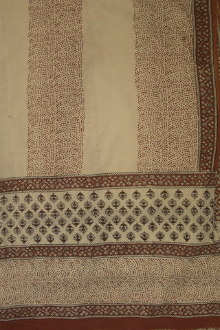 Maroon Floral Bagru Block Printed Full Suit