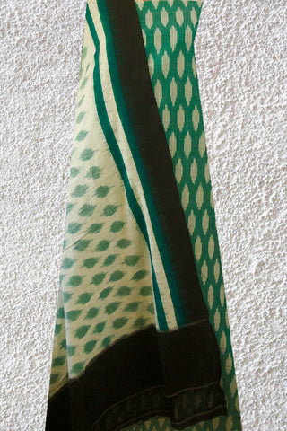Light Green with Off White Ikat Full Suit
