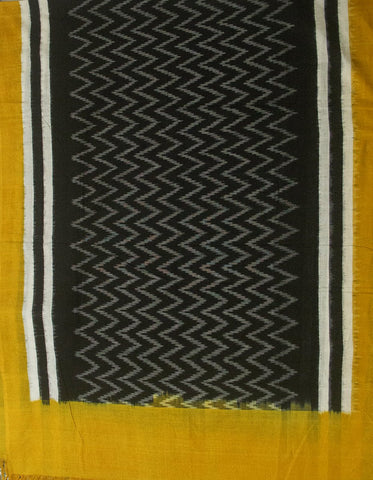Yellow with Black Zig Zag Ikat Full Suit
