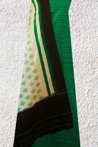 Green with Offwhite Ikat Full Suit