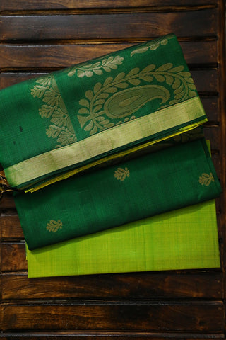 Shades of Green Kanchi Silk Suit