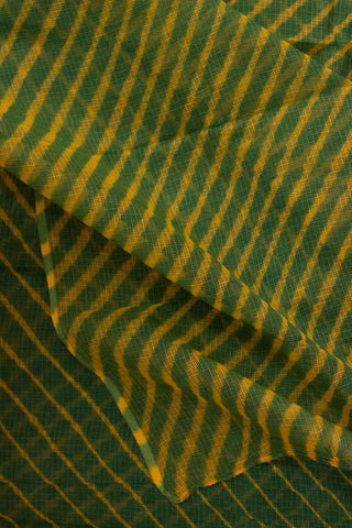 Green with Yellow Leheriya Saree