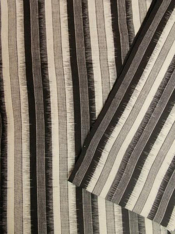 Black with White Lines Ikat Cotton Fabric - 1.5m