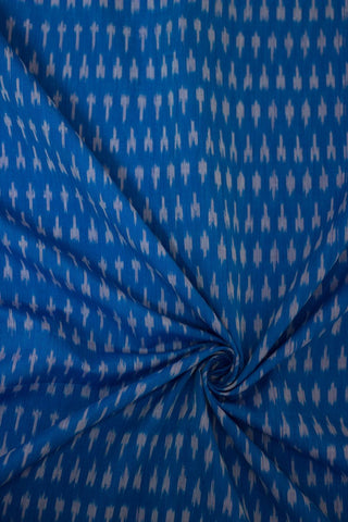 Double Shade blue mercerized cotton Ikat Fabric