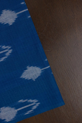 Arrows in Blue Handwoven Ikat Fabric