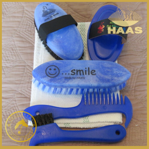 Haas Deluxe Young Equestrian Grooming Kit - Blue - Haas Grooming Products