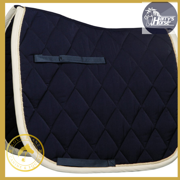 Harrys Horse Navy/Cream DR Saddle Pad - Kola-Beanz
