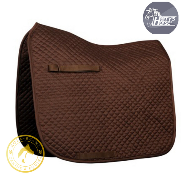 Harrys Horse Quilted Brown Dr Saddle Pad - Saddlecloths Saddle Pads