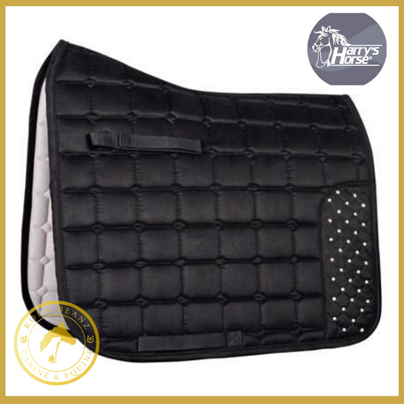 Harrys Horse Black Crystal Saddle Pad VZ - Saddlecloths Saddle Pads