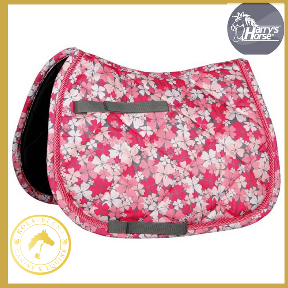 Harrys Horse Diva Flower Saddle Pad - Saddlecloths Saddle Pads
