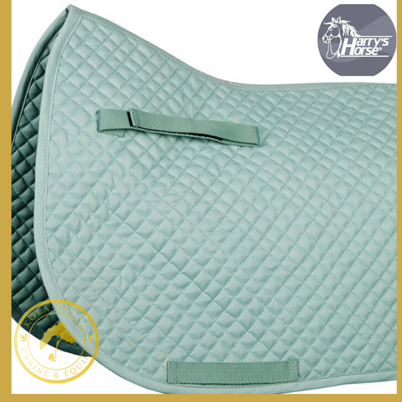 Harrys Horse Quilted Green Dr Saddle Pad - Saddlecloths Pads