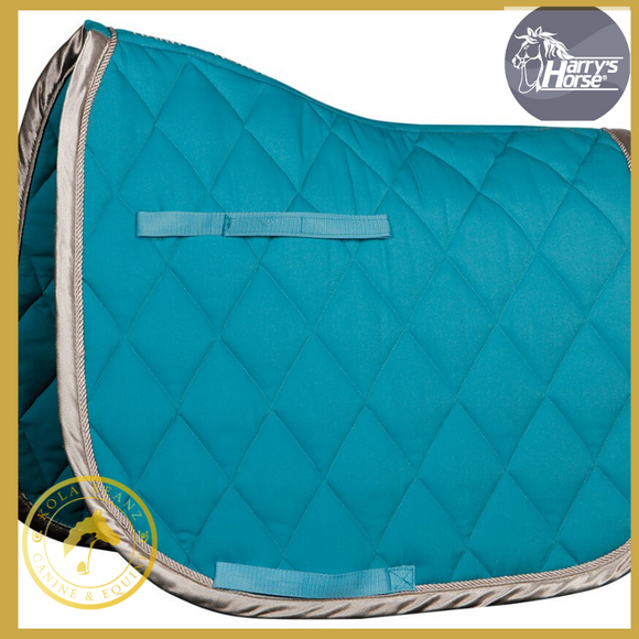 Harrys Horse Turquoise/Silver VZ Saddle Pad - Saddlecloths Saddle Pads