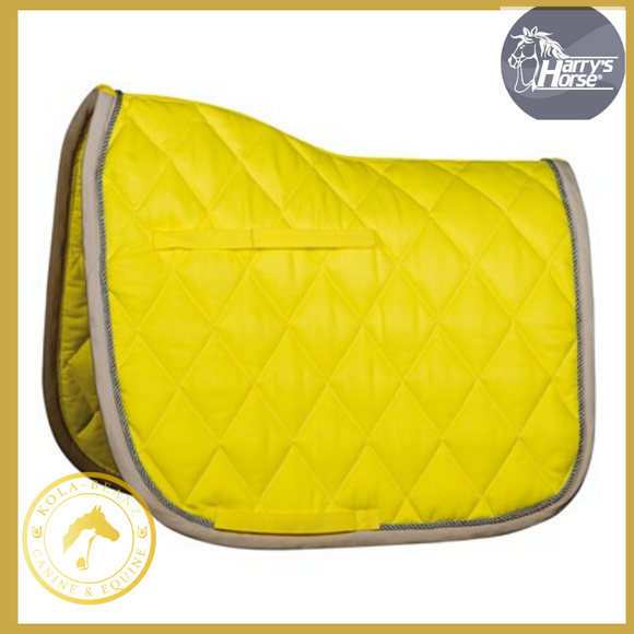 Harrys Horse Yellow/Grey GP Saddle Pad - Saddlecloths Saddle Pads