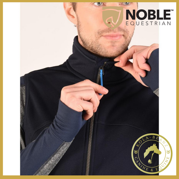 Noble Outfitters Bramham Fleece Vest - Navy - Mens Gilets