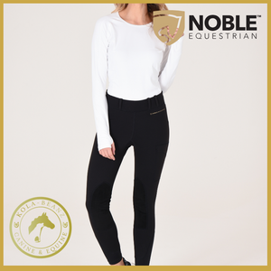 Noble Outfitters Balance Riding Tight Black - Ladies Riding Tights