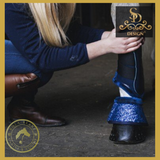 Sd® Glitter Boot Set - Navy (6 Piece Set) - Horse Brushing Boots