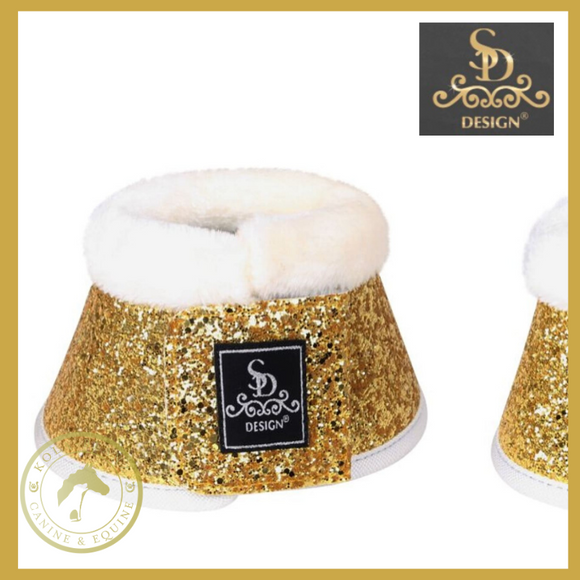 SD® Glitter Bell Boots - White/Gold