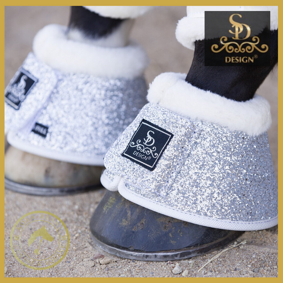 SD® Glitter Bell Boots - Silver - Over reach Boots