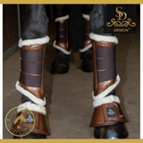 Sd® Sparkle Brushing Boots - Brown (Set Of 4) - Horse Brushing Boots