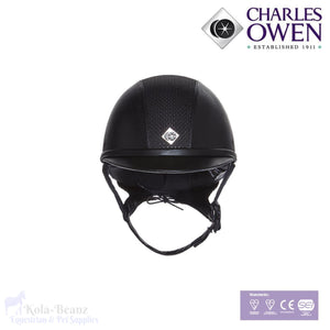 Charles Owen Ayr8 Leatherlook - Black - Riding Hat