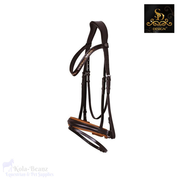 Crown B-Unique Bridle - Brown/camel - Anatomic Bridles