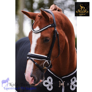 Crown Cantolar Bridle - Black/White - Anatomic Bridles