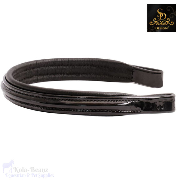 Crown Carmiro Browband - Patent Black - Browband