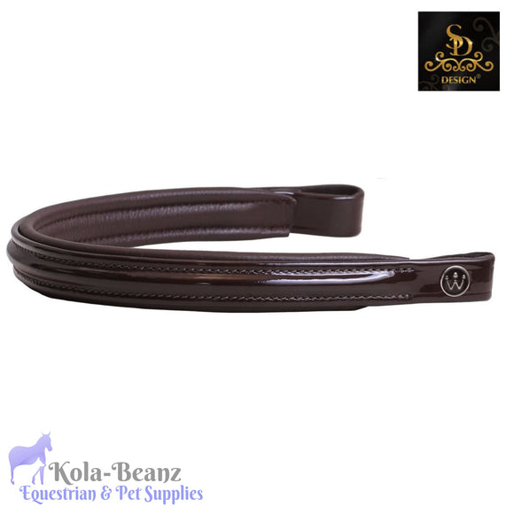 Crown Carmiro Browband - Patent Brown - Browband