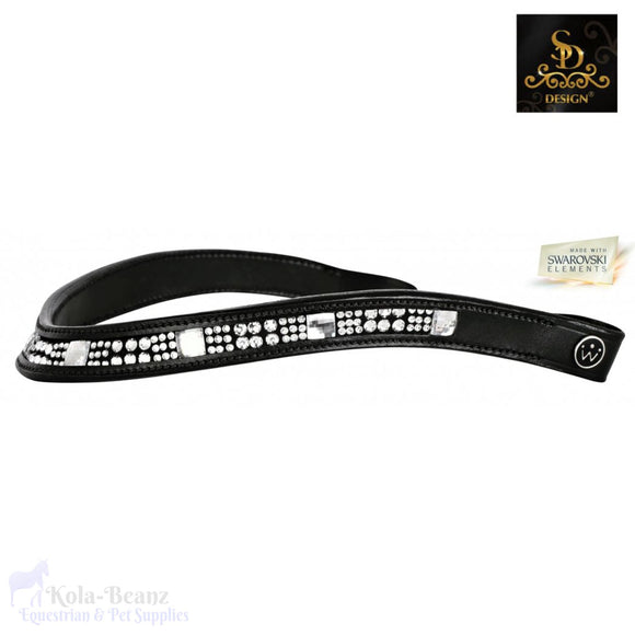 Crown Crystal Cassall Browband - Black - Browband