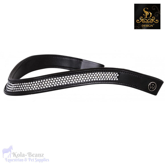 Crown Crystal Maccoy Browband - Black - Browband