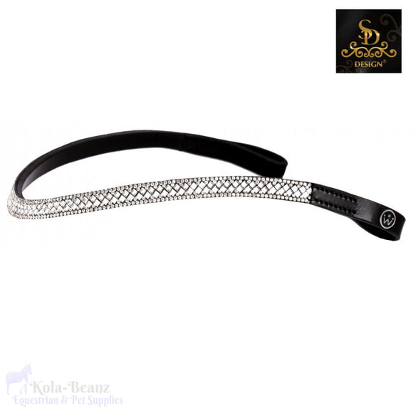 Crown Davinci Crystal Browband - Black - Browband