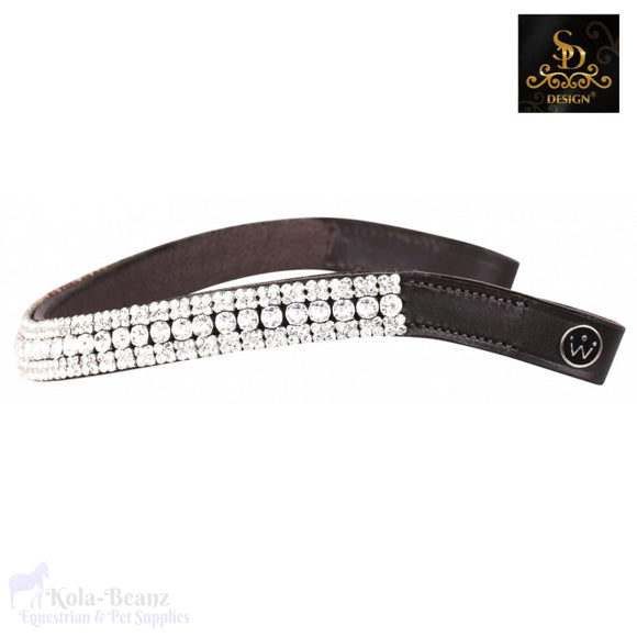 Crown Diamond Silver Browband - Brown - Browband