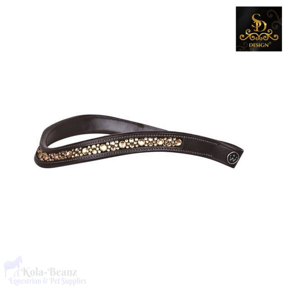 Crown Gold Fever Browband - Brown - Browband