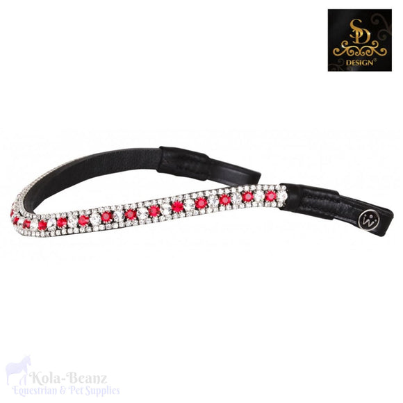 Crown Noble Colour Crystal Browband - Black - Browband