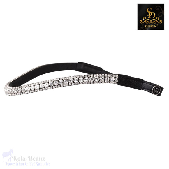 Crown Noble Crystal Browband - Black - Browband