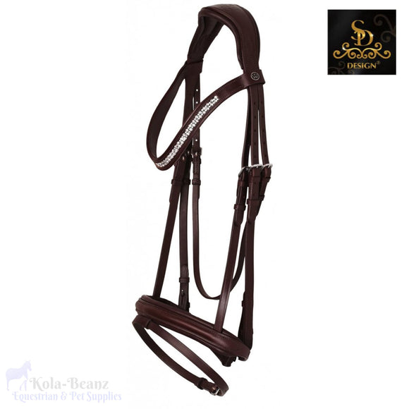 Crown Quintet Bridle - Auburn - Anatomic Bridles