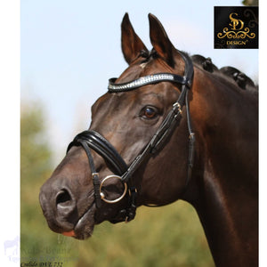 Crown Show Master Bridle - Black/black/patent - Anatomic Bridles