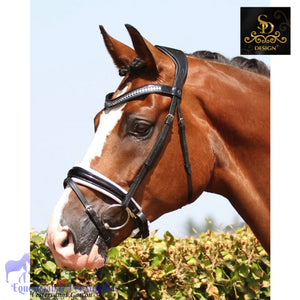 Crown Show Master Bridle - Black/White/Patent - Anatomic Bridles