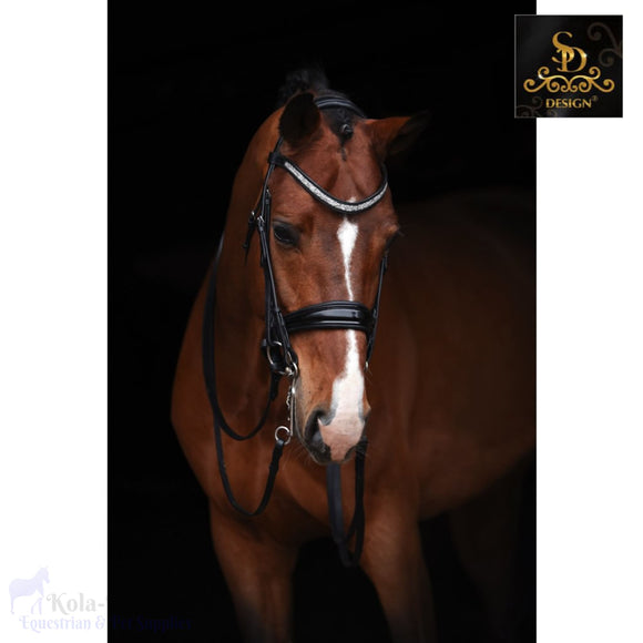 Crown Treasure Double Bridle - Black/black/patent - Anatomic Bridles