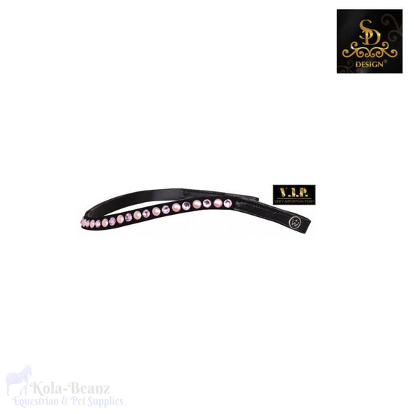Crown Vip Freestyle Rose Browband - Black - Browband