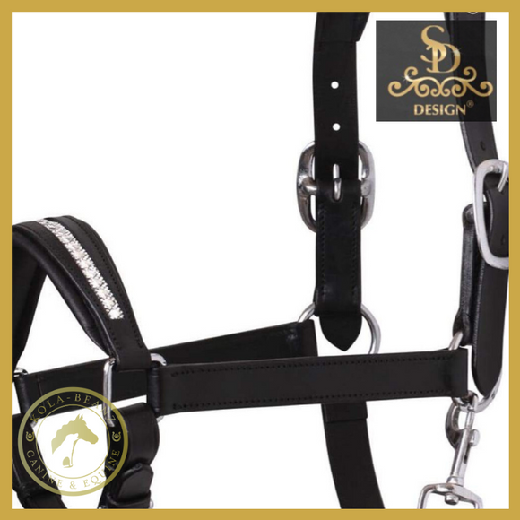 Crown Azzaro Black Leather Headcollar